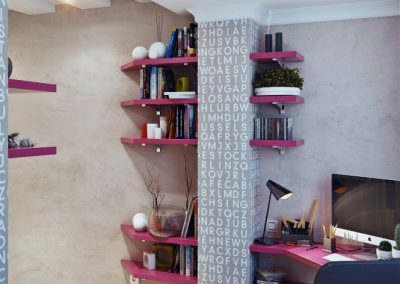 1a-Hot-pink-shelving-bespoke-corner-desk-665x886