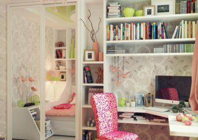 1b-Bespoke-white-corner-desk-pink-chair-665x665