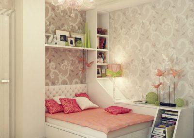 1b-Peach-green-gray-girls-bedroom-decor-665x665