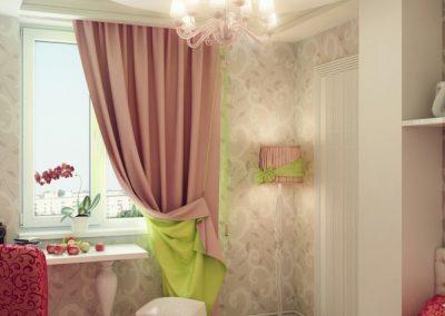 1b-Pink-green-cream-girls-bedroom-665x665