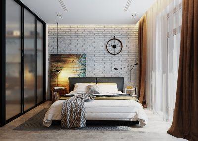 chic-brick-bedroom-walls